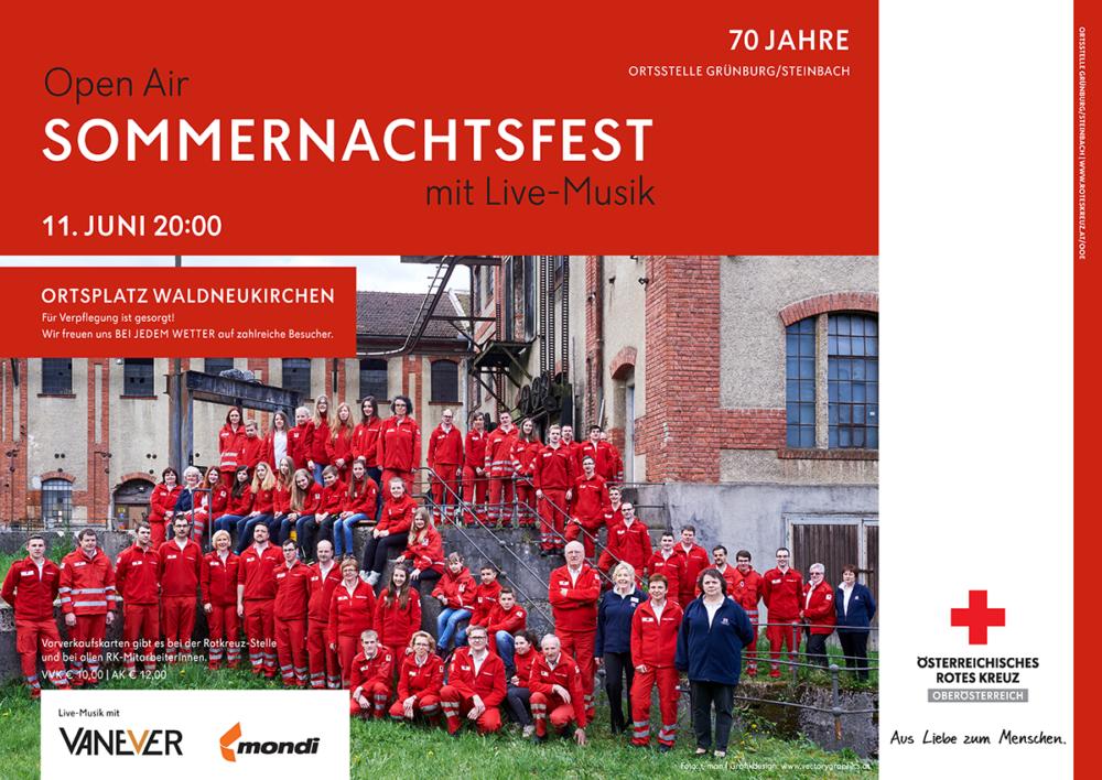 Plakat Sommernachtsfest