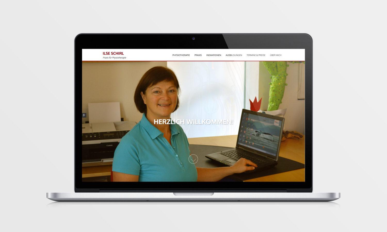 Praxis für Physiotherapie Webseite